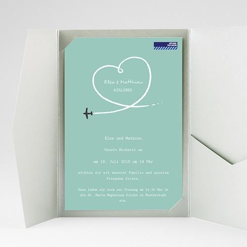 Hochzeitskarten Querformat - Weltenbummler 38959 preview