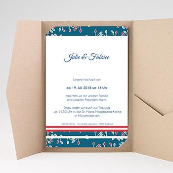 Hochzeitskarten Querformat - Aubusson Stil - 0