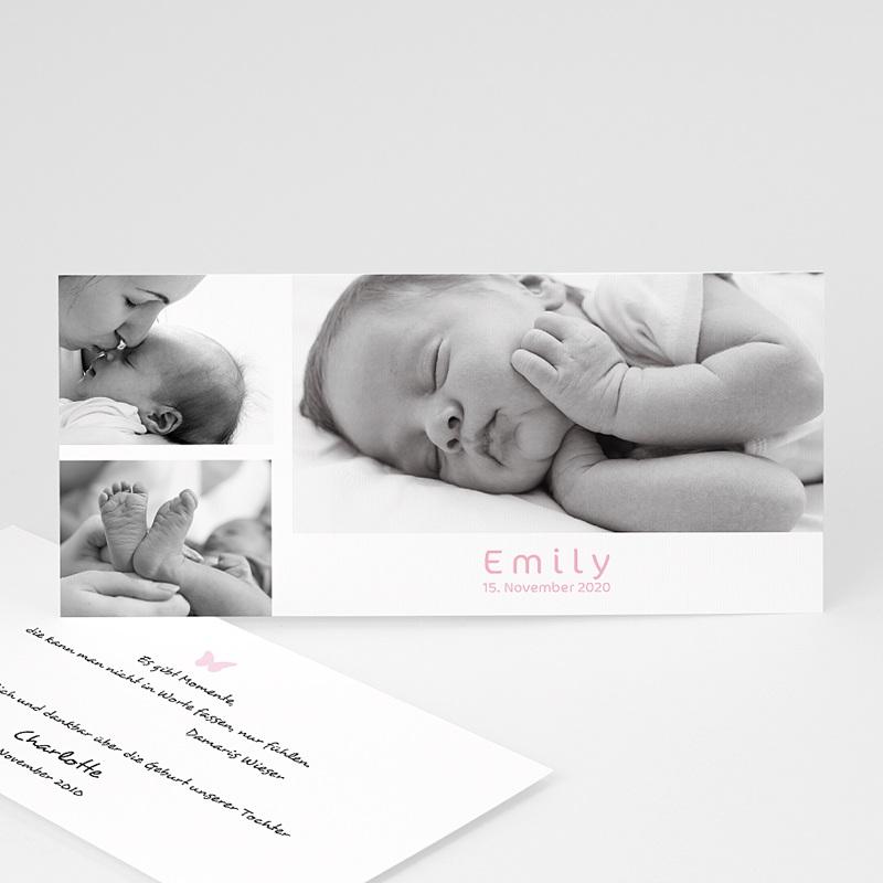 Geburtskarten für Mädchen Farblich