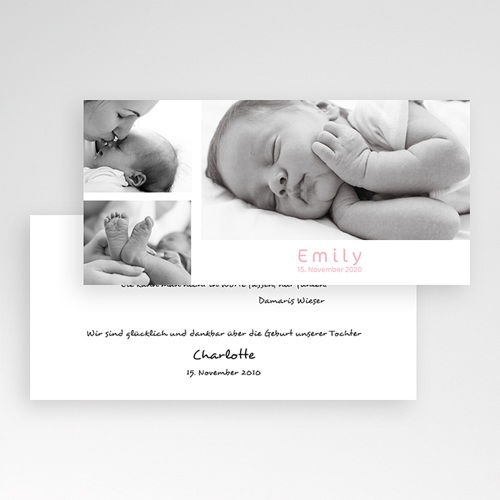 Geburtskarten für Mädchen - Farblich 3901 preview