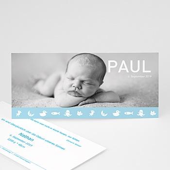 Babykarten für Jungen - Babykarte Paul - 1