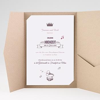 Hochzeitskarten Querformat - Zarte Töne - 0
