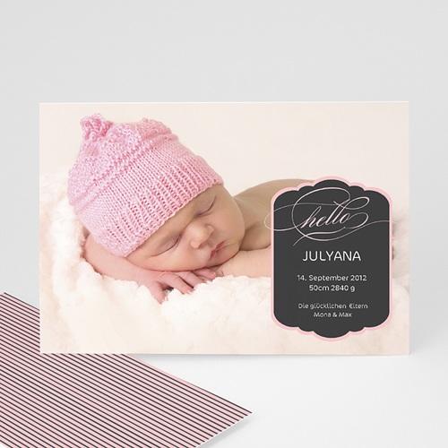 Geburtskarten für Mädchen - Pink 391