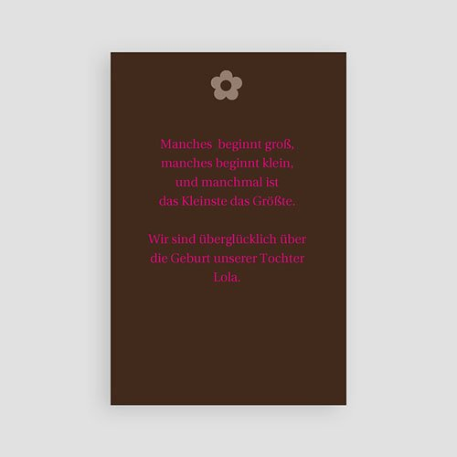 Geburtskarten für Mädchen Blumig verspielt pas cher