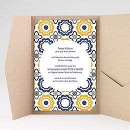 Hochzeitskarten Querformat - Azulejo - 0