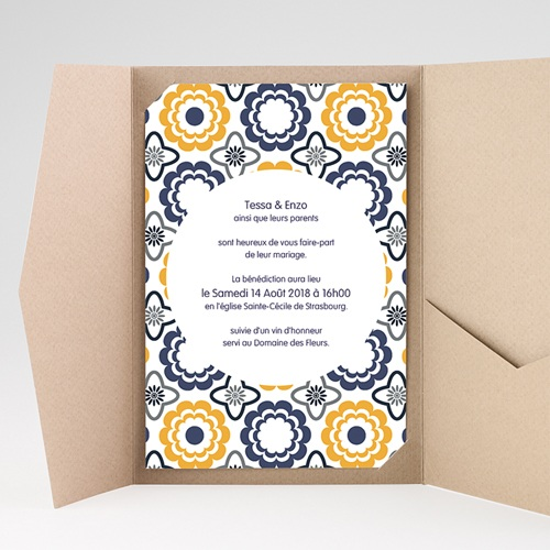 Hochzeitskarten Querformat - Azulejo 39273 preview