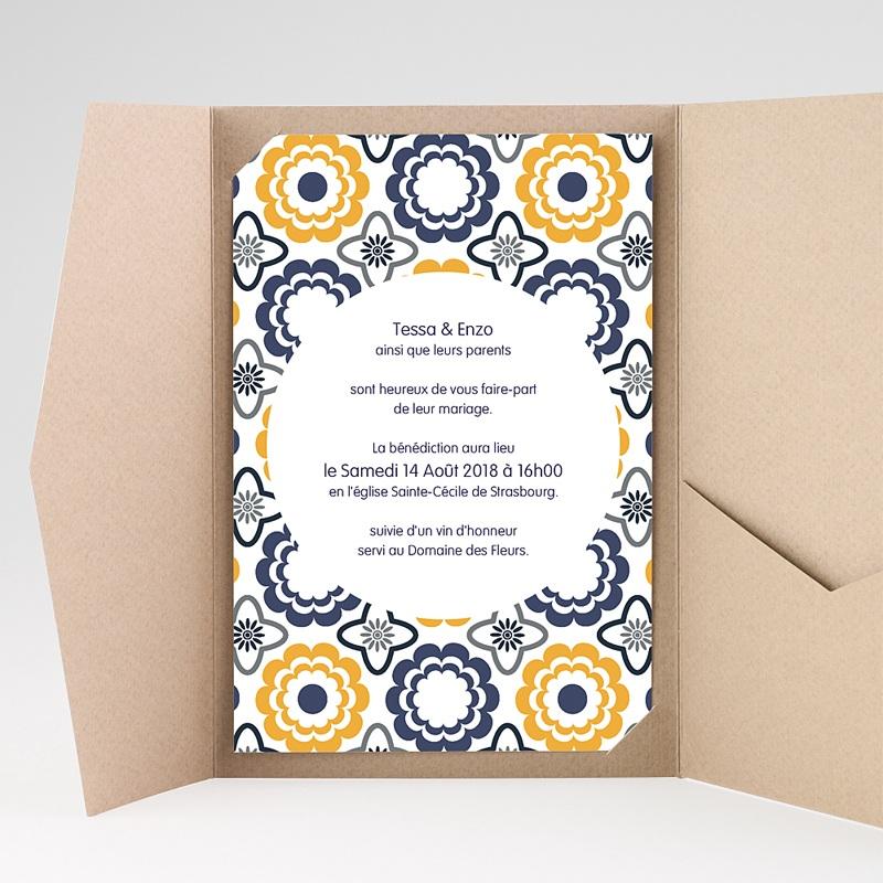 Hochzeitskarten Querformat - Azulejo 39273 thumb