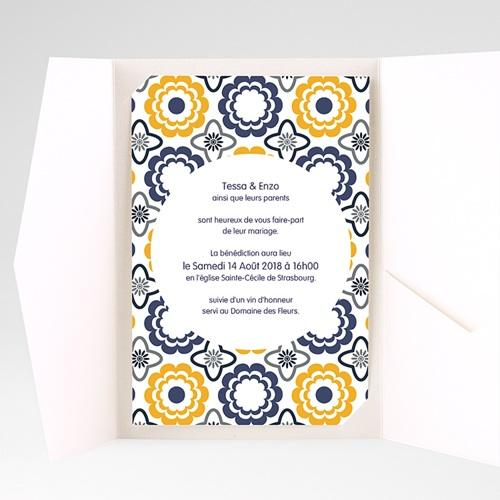 Hochzeitskarten Querformat - Azulejo 39274 preview