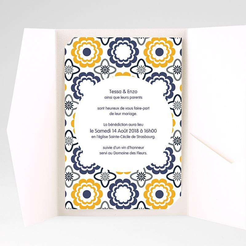 Hochzeitskarten Querformat - Azulejo 39274 thumb