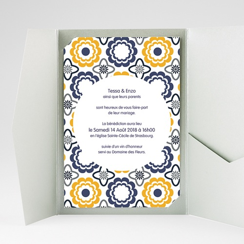 Hochzeitskarten Querformat - Azulejo 39275 preview
