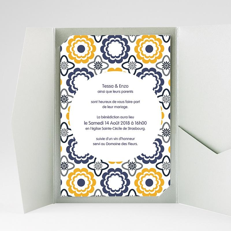 Hochzeitskarten Querformat - Azulejo 39275 thumb