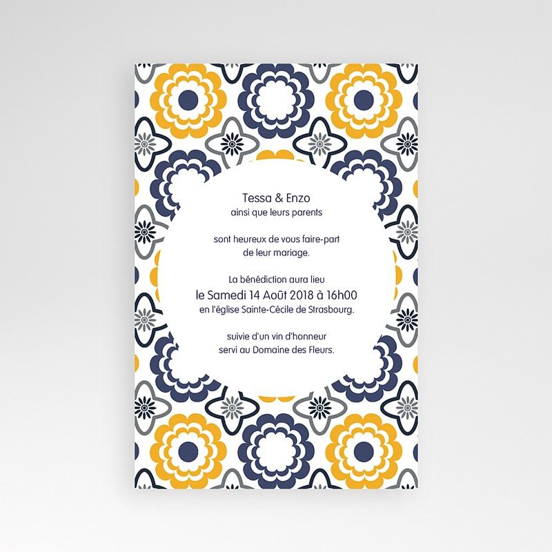 Hochzeitskarten Querformat - Azulejo 39276 thumb