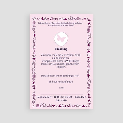 Geburtskarten für Mädchen - Mond Sterne 3949 test
