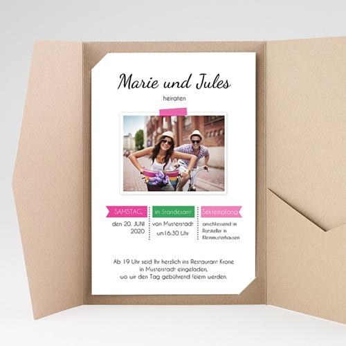 Hochzeitskarten Querformat - Poppig 39525 preview