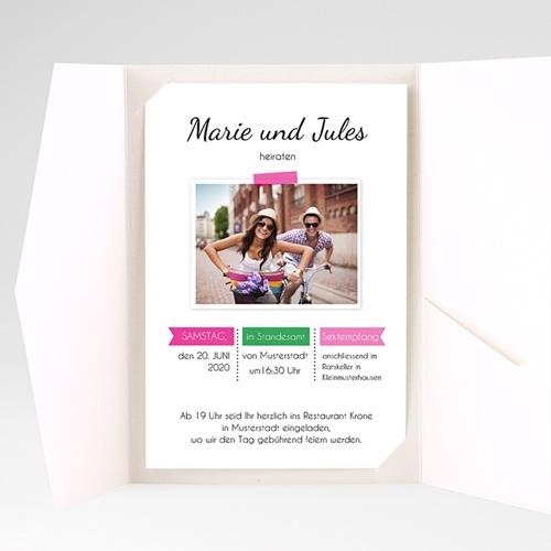Hochzeitskarten Querformat - Poppig 39526 preview
