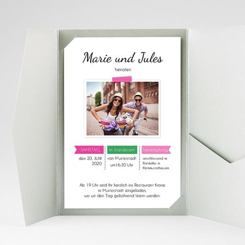 Hochzeitskarten Querformat - Poppig 39527 preview