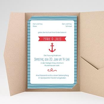 Hochzeitskarten Querformat - Hafen der Ehe - 0