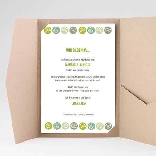 Hochzeitskarten Querformat - Green Wedding 39541 test