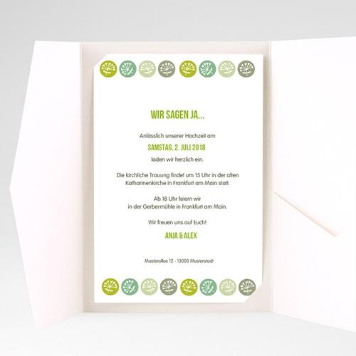 Hochzeitskarten Querformat - Green Wedding 39542 test