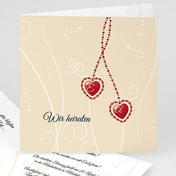 Hochzeitseinladungen Herz - Hochzeitskarte Venedig - 1