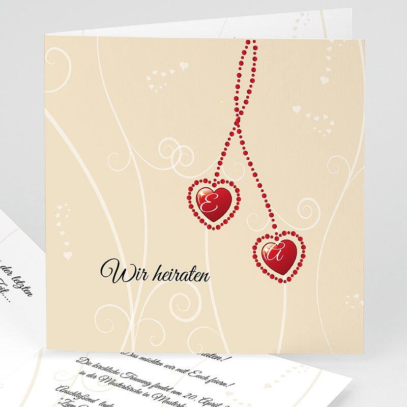 Hochzeitseinladungen Herz - Hochzeitsglocken 3956 thumb