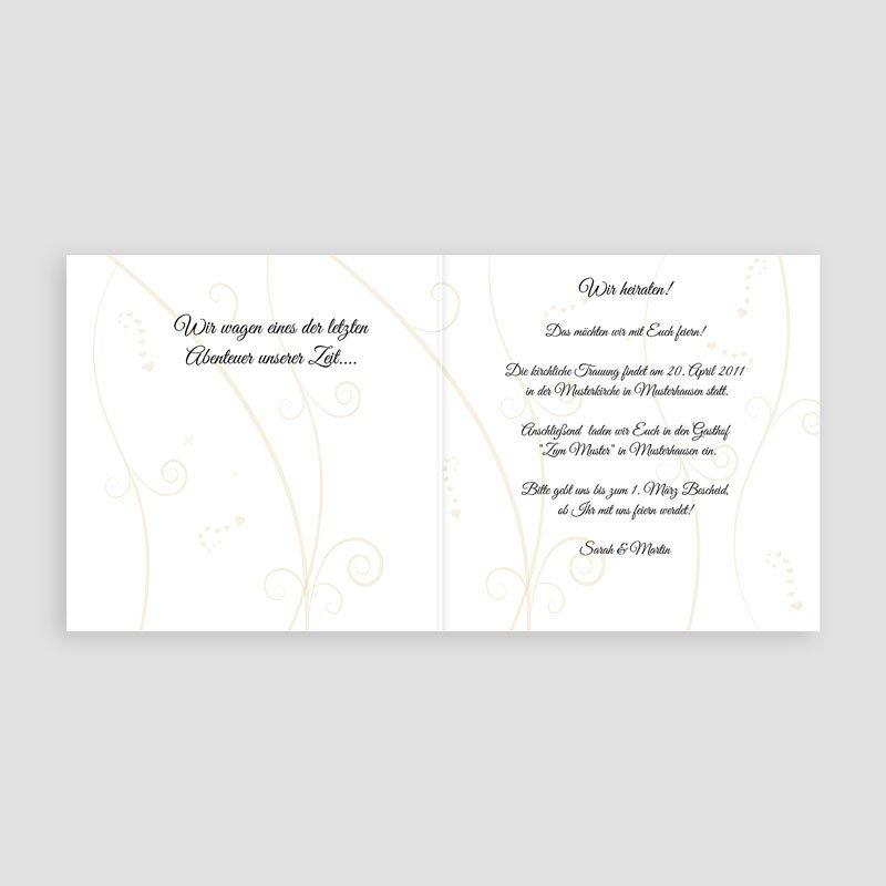 Hochzeitseinladungen Herz - Hochzeitsglocken 3957 thumb