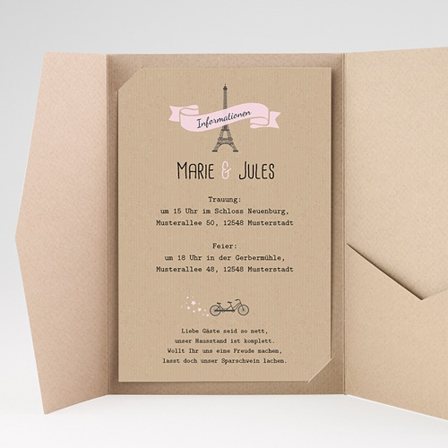 Hochzeitskarten Querformat - Love in Moskau 39581 test