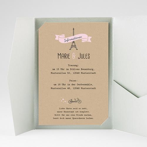 Hochzeitskarten Querformat - Love in Moskau 39583 test