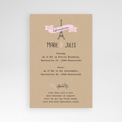 Hochzeitskarten Querformat - Love in Moskau 39584 test