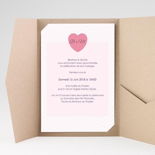 Hochzeitskarten Querformat - Bonbonfarben 39617 preview