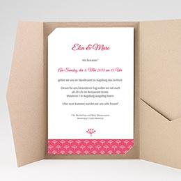 Hochzeitskarten Querformat Pinky