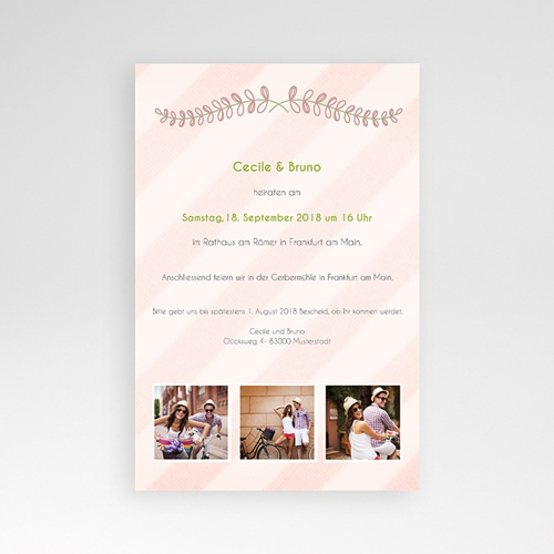 Hochzeitskarten Querformat - Anzug 39676 preview
