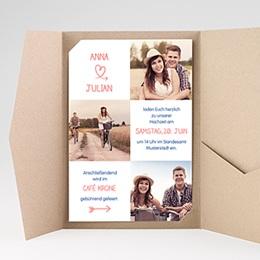 Hochzeitskarten Querformat - Verspielt - 0
