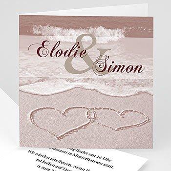 Hochzeitseinladungen modern - Hochzeitskarte Rom - 1