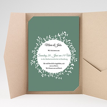 Hochzeitskarten Querformat - Diadem - 0