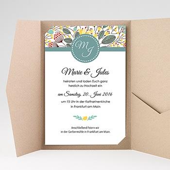 Hochzeitskarten Querformat - Frühlingswiese - 0