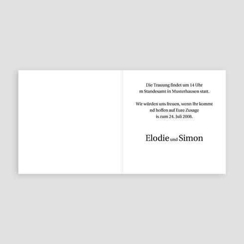 Einladungskarten Hochzeit  - Rom 3973 test