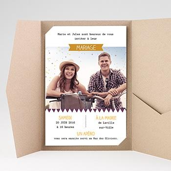 Hochzeitskarten Querformat - Konfetti - 0