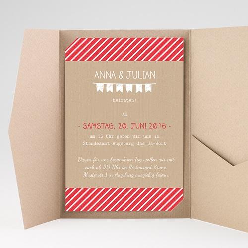 Hochzeitskarten Querformat - Linienförmig 39753 preview