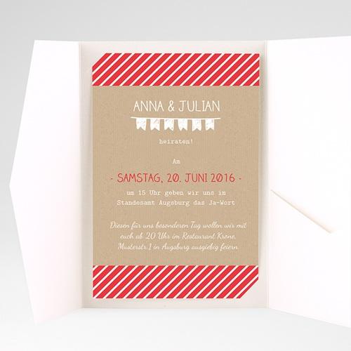 Hochzeitskarten Querformat - Linienförmig 39754 preview
