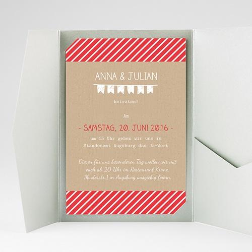 Hochzeitskarten Querformat - Linienförmig 39755 preview