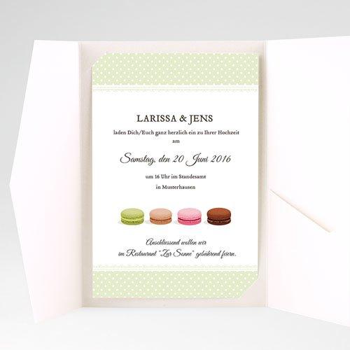 Hochzeitskarten Querformat Schlemmen pas cher