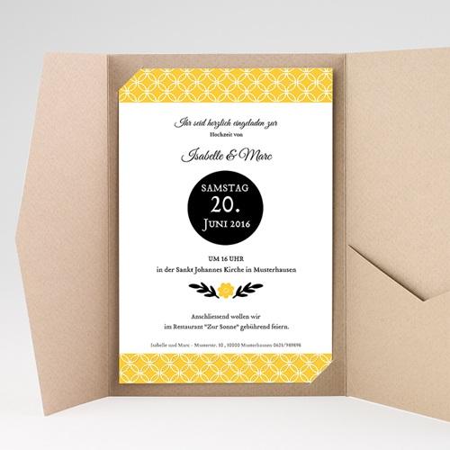 Hochzeitskarten Querformat - Gelbton 39777 preview