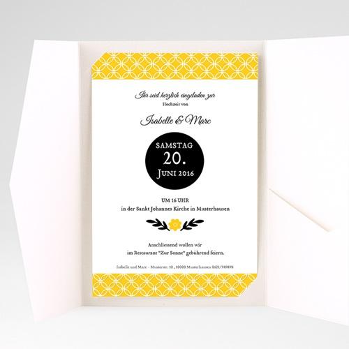 Hochzeitskarten Querformat - Gelbton 39778 preview