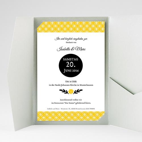 Hochzeitskarten Querformat - Gelbton 39779 preview