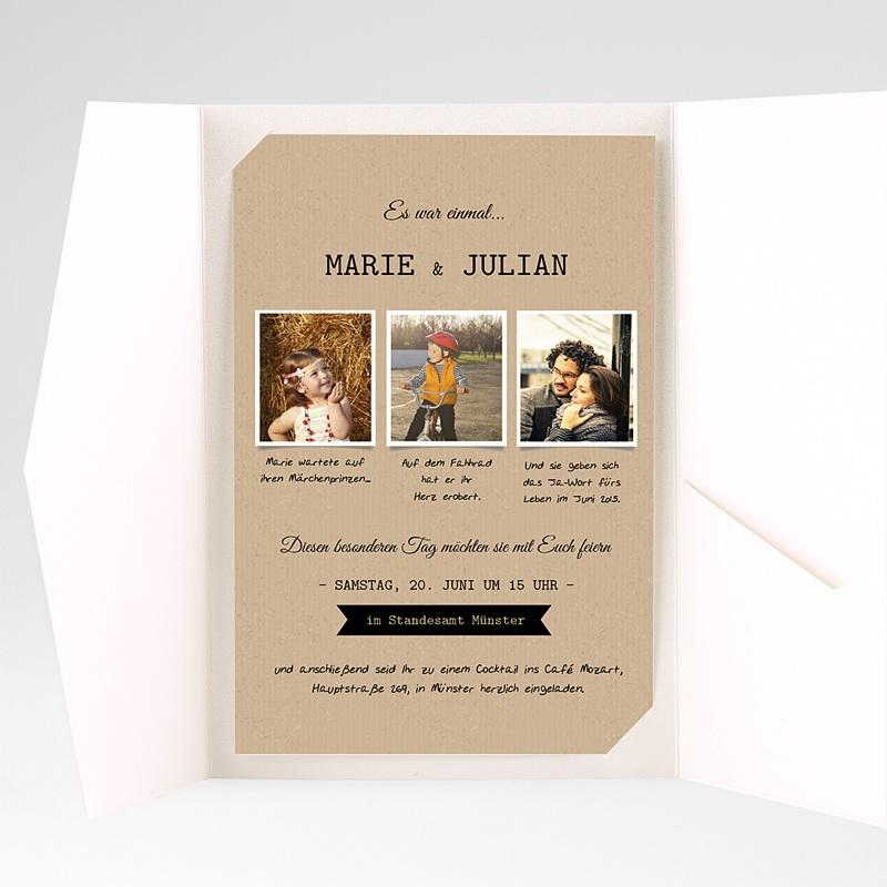 Hochzeitskarten Querformat Forever pas cher