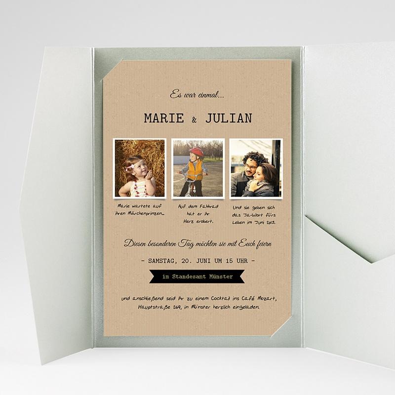 Hochzeitskarten Querformat Forever gratuit