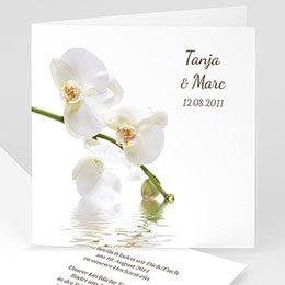 Hochzeitseinladungen modern - Hochzeitskarte Orchidee - 1
