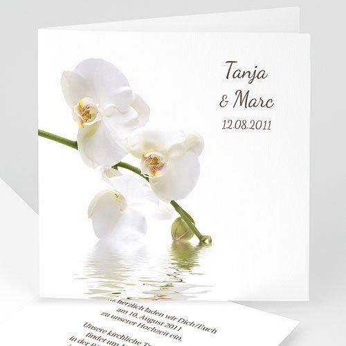 Einladungskarten Hochzeit  Orchideen
