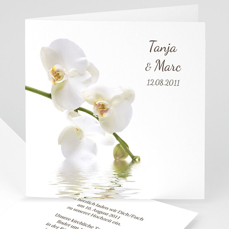 Einladungskarten Hochzeit  - Orchideen 3980 thumb
